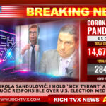 Nikola Sandulović: I Hold 'Sick Tyrant' Aleksandar Vučić Responsible Over U.S. Election Meddling